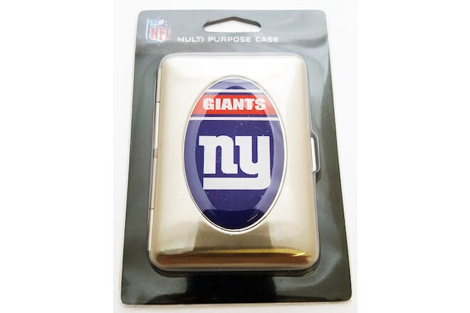 NFL New York Giants Multi Purpose Cigarette Money ID Carry Case Metal (2 pc lot)