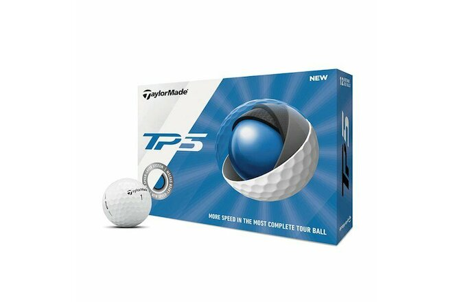 New TaylorMade TP5 Golf Balls, 12 Pack Free Ship