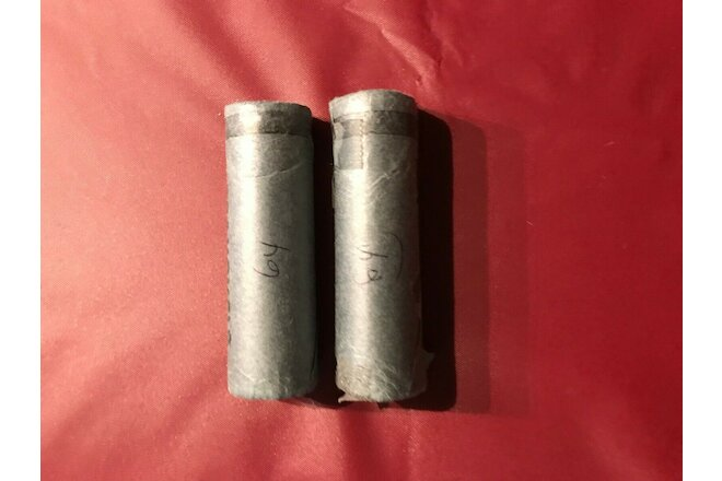 1964 BU Canadian Nickel Roll. CANADA.  bank wrapped   2 roll lot