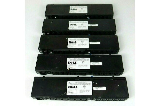 Lot of 5 - APC AP6021 Dell 1T891 11-Outlet 220V Rack Mount PDUs