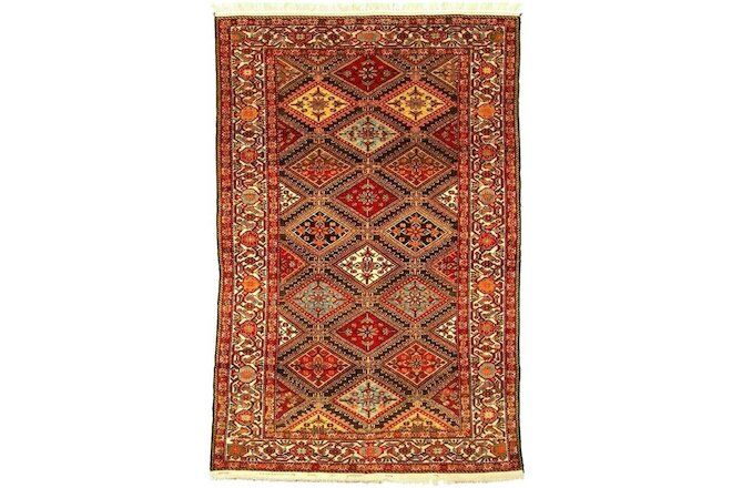 "MALAYER     Late 19th Century   Size : 4' 3"" x 6' 5""   ( Sold as PAIRS )"