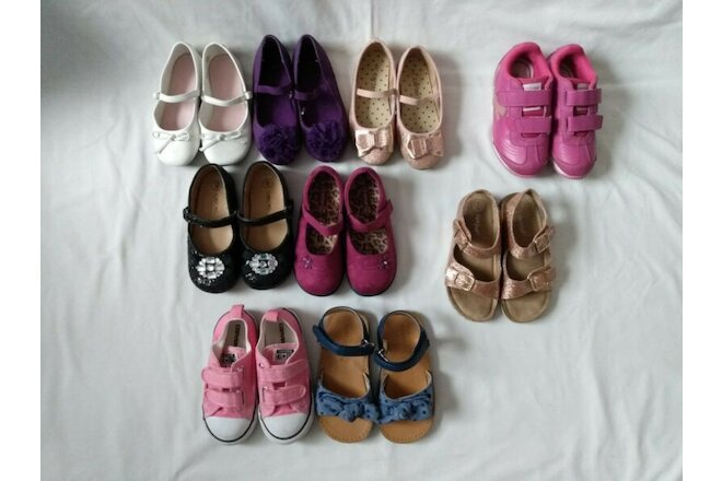 GUC Lot of 9 Pairs of Girl Shoes Various sizes