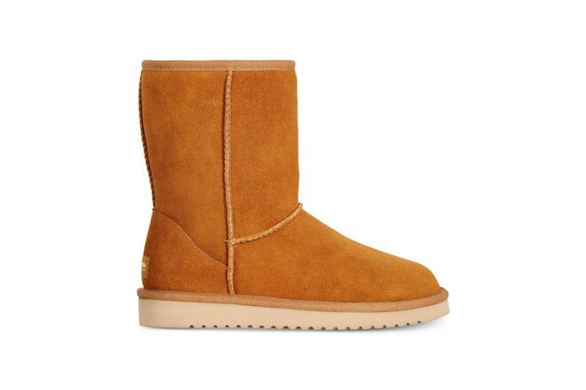 KOOLABURRA BY UGG KOOLA SHORT CHESTNUT SUEDE SHEEPSKIN WOMEN'S BOOTS SIZE US 8