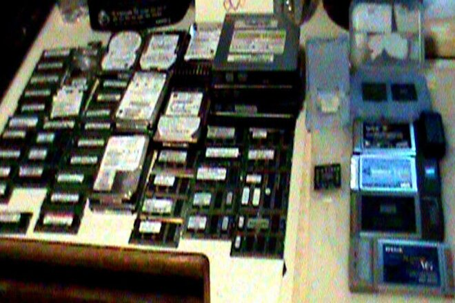 Lot of Misc Laptop Parts: 76 Items Total: Ram Hard-Drives DVD Burners Processors