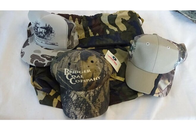 HUNTING ACCESSORIES (3) Visor CAPS & BACK PACK Camouflage Camo Print