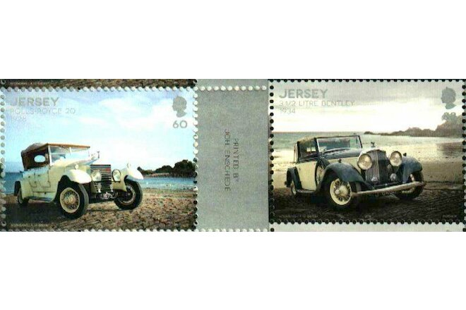 CLASSIC CARS 1928 ROLLS-ROYCE & 1934 BENTLEY JERSEY 2016  MNH