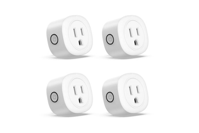 4Pack Smart Plug Wifi Switch Socket Outlet Compatible with Alexa GoogleAssistant