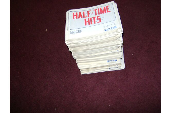 168 Lot Half Time Hits Marching BAND MUSIC FOLIO Book Vintage Herfurth Miller