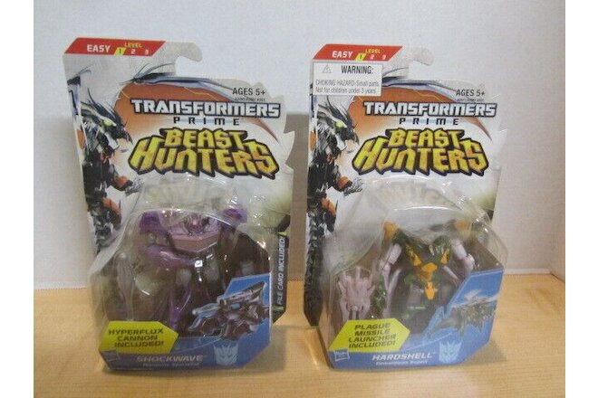 Transformers Prime Beast Hunters Hardshell & Shockwave new