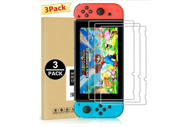3Pack For Nintendo Switch Premium 9H HD Tempered Glass Screen Protector Guard