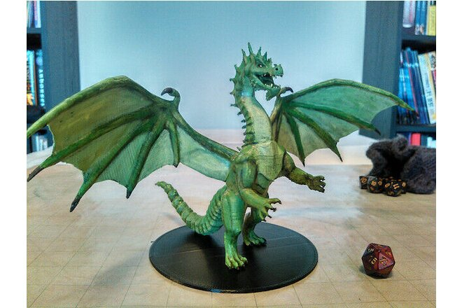 Dungeons and Dragons Colossal Green Acid Dragon | Limited Edition Miniature