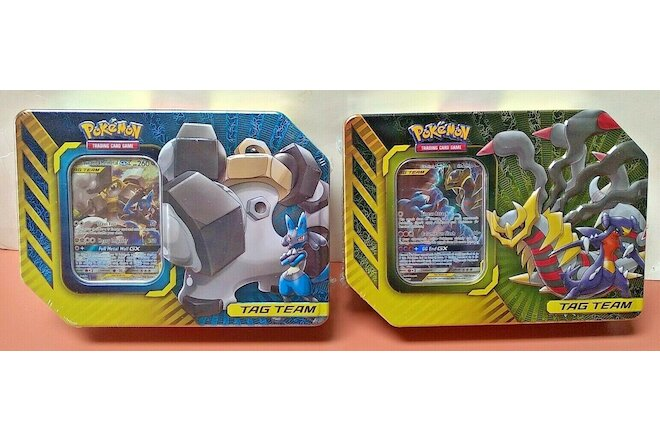 Pokemon Tag Team GX Tin Lot Sealed