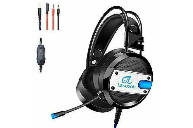 Lesozoh A10 Gaming Headset with Microphone,OVibration Effect, Professional Wired