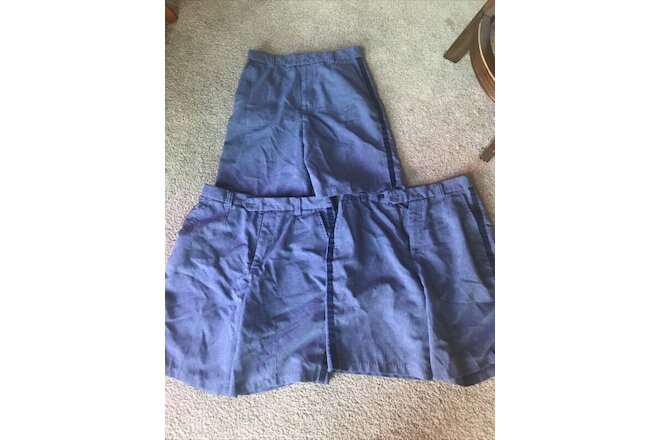 3 Pairs of Women's USPS postal Uniform Shorts size 12