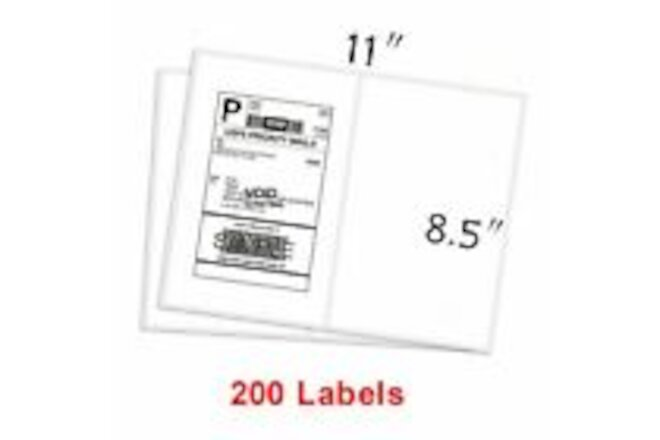 200-1000 Half Sheet Shipping Labels Page 8.5x5.5 Self Adhesive Round 2 Per Sheet