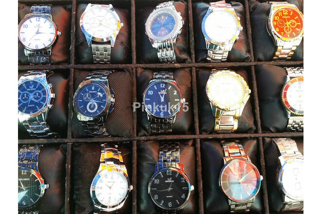 New Wholesale Lot of 10 Assorted Quartz Mens Wrist Watches