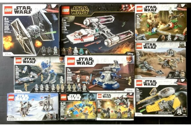 LEGO Star Wars Assorted LOT of 10 Factory Sealed Sets