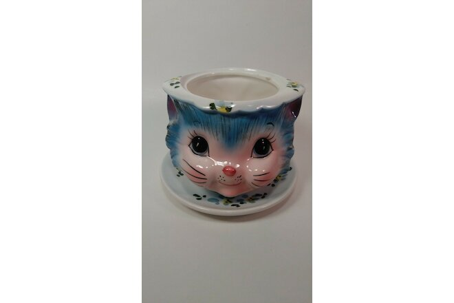 Miss Prissy Kitty Sugar bowl and Condiment bowl no lids or spoon