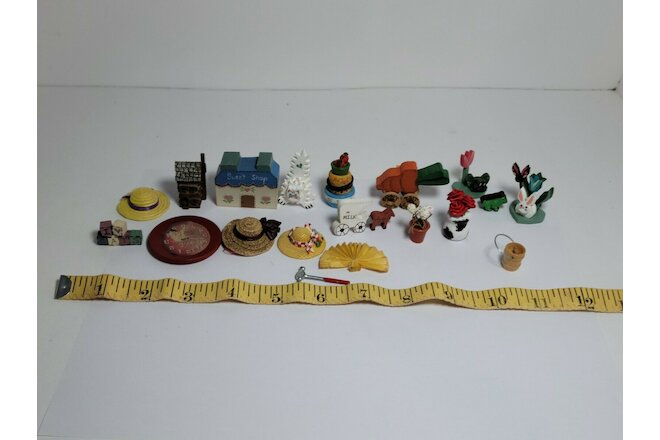 "Wooden Doll House Bundle ""Pets & Misc"" Miniatures ( Handmade / Store Bought )"