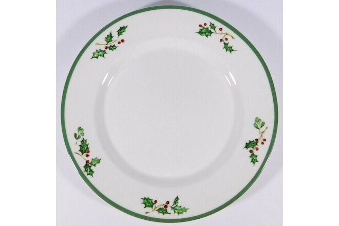 3 Christopher Radko Traditions Holiday Celebrations Holley Mistletoe Salad Plate