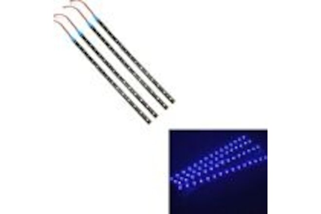 "4 PCS 12V 12"" 1FT 15SMD Flexible LED Strip Light Waterproof For Car Truck Boat"