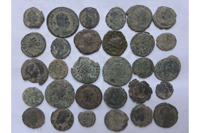 Roman coins uncleaned Lot of 30   III-V century A.D