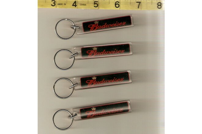 4 Budweiser key chains