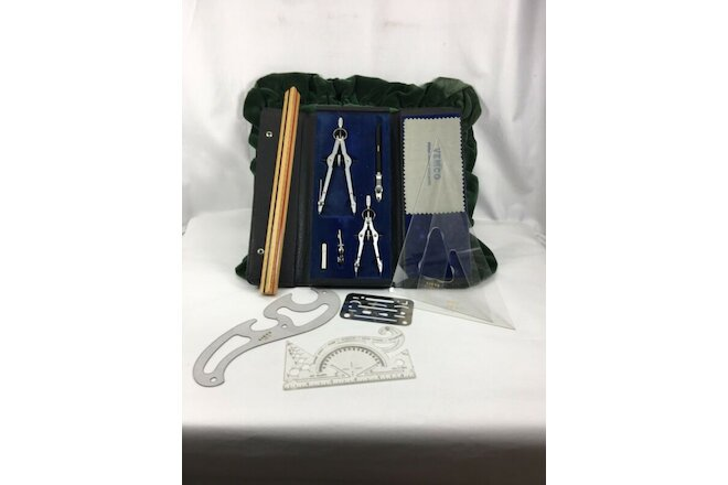 Vintage A. Lietz Precision Drawing Instruments -Drafting Set w/Case
