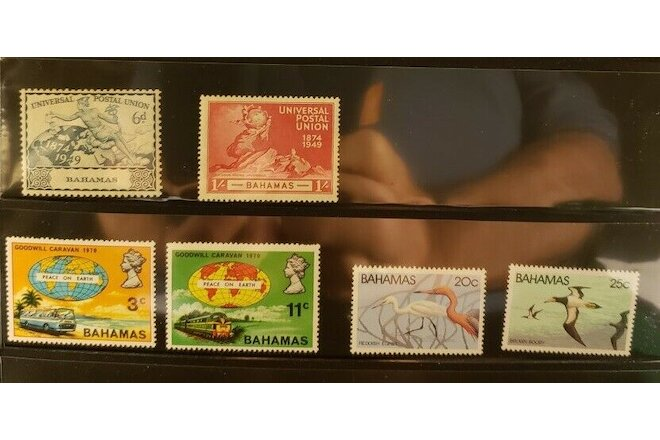 Bahamas Miscellaneous Lot of 8 Stamps - MNH - See Details for List