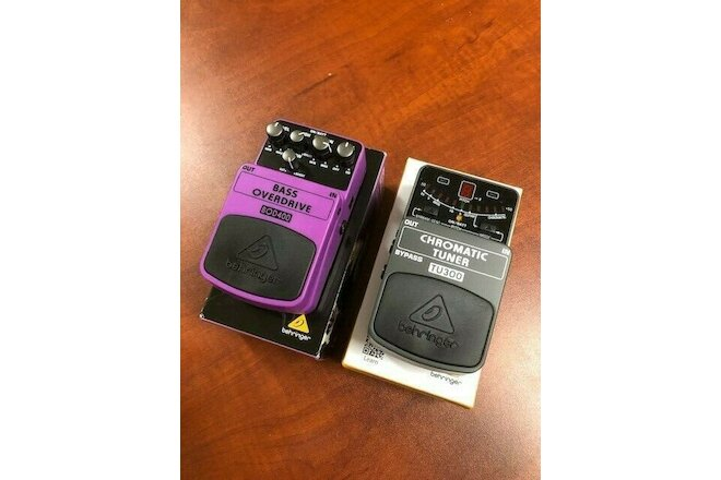 Behringer BOD400 Bass Overdrive & TU300 Tuner stomp boxes - SOLD TOGETHER, USED