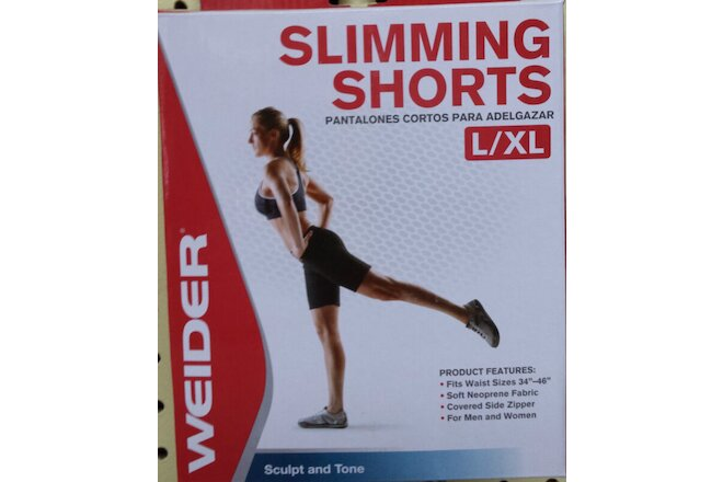 "Weider Slimming Shorts (1 box ) Large/X-Large Waist 34""-46"" Neoprene WNSL13"