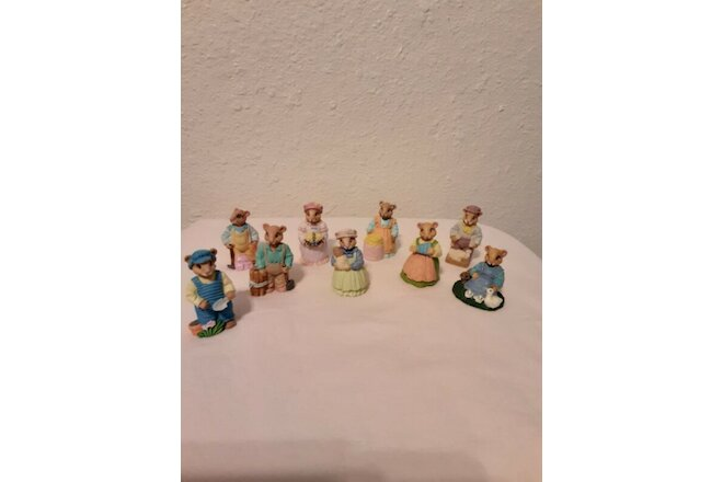Vintage Lot 9 Miniature Mice Figurines 92 JC Adorable Very Good Used Condition