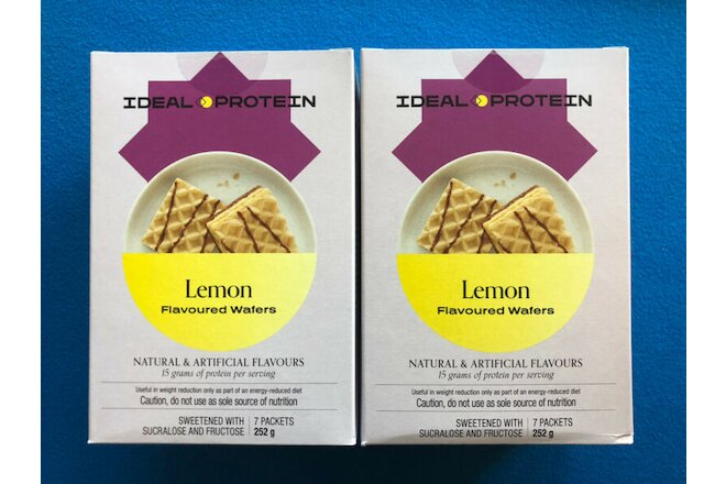 Ideal Protein Lemon Flavoured Wafers - 2 Boxes - EXP 1/28/22 - FREE SHIPPING!
