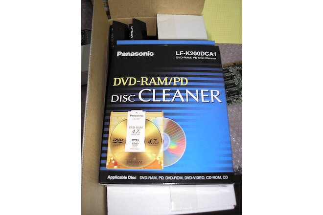 5x Panasonic LF-K200DCA1 DVD-RAM/PD Disc Cleaners - NEW!