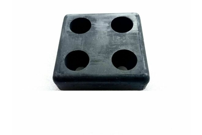 "4 Hole Square Rubber Bumper Pad 4"" x 4"" Wide X 1"" Height"