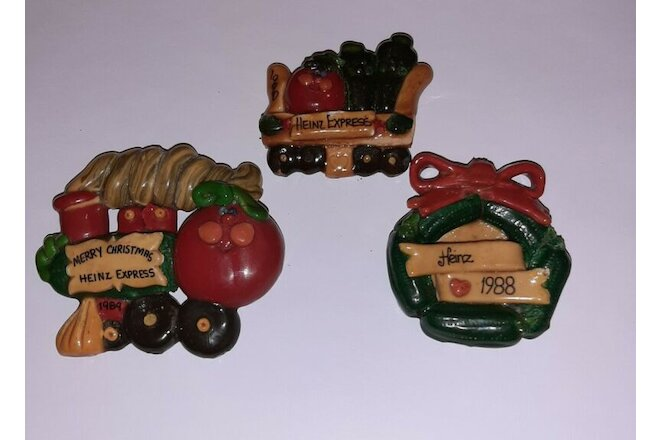 Heinz 57 Collectible Employee Gift 1988-90 Christmas Salt Dough Ornaments