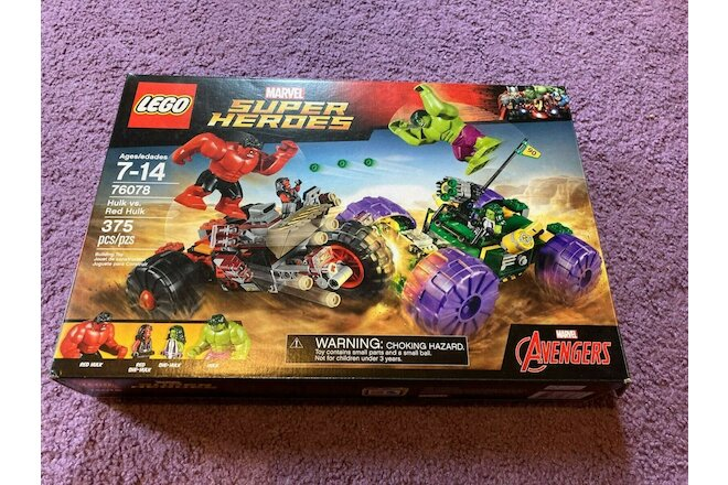 Lego 76078 Hulk Vs Red Hulk Red & Green Vehicles NO MInifigs Used