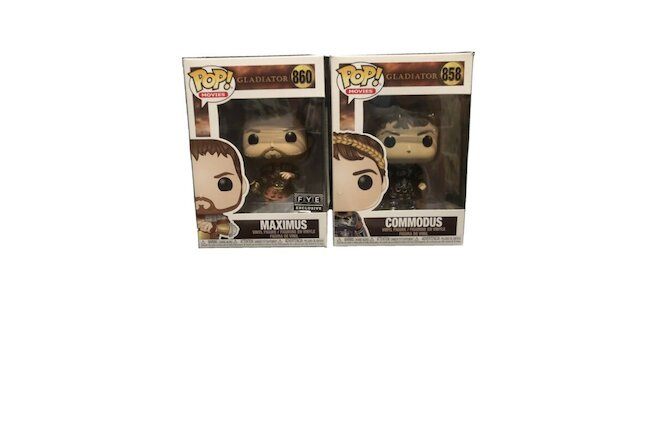 Funko Pop! Movies gladiator Maximus exclusive and Commodis Fig Lot